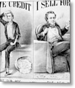 Money Lending, 1870 Metal Print