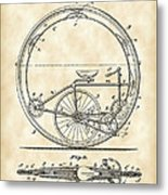 Monocycle Patent 1894 - Vintage Metal Print