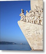 Monument To The Discoveries In Lisbon Metal Print