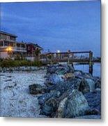 Moon Over Dewey Beach Metal Print