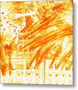 Mormon 1848 Nauvoo Temple Burning Metal Print