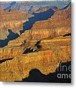 Morning Color And Shadow Play In Grand Canyon National Park Metal Print