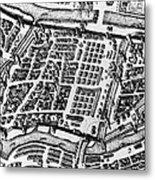 Moscow: Kitai-gorod Map Metal Print