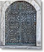 Mosque Window Metal Print