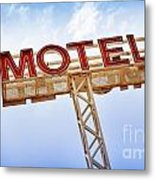 Motel Sign Metal Print