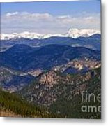 Mount Evans And Continental Divide Metal Print