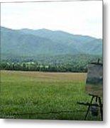 Mountain Range Painting Metal Print