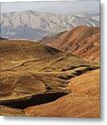 Mountain Scenary Near Zanjan In Iran Metal Print