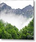 Mountain With Clouds Metal Print