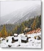 Mountain With Snow Metal Print