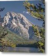 Mt. Moran And Jenny Lake Metal Print