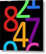 Multi-color Numbers Metal Print