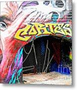 Mural With Teeth Metal Print