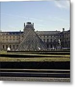 Musee Du Louvre In Paris France Metal Print