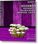 Mushroom Farm Metal Print