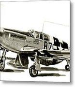 Mustang P-51 Metal Print