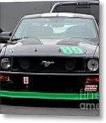 Mustang Race Car Metal Print