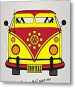 My Superhero-vw-t1-iron Man Metal Print