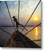 Myanmar, Inle Lake Metal Print