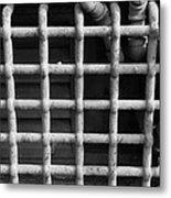 N Y C Grates In Black And White Metal Print