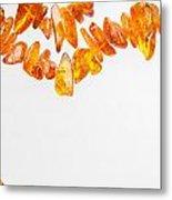 Natural Amber Necklace Metal Print