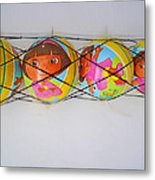 Net Balls Metal Print