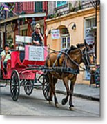 New Orleans - Carriage Ride Metal Print