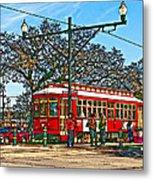 New Orleans Streetcar Painted Metal Print