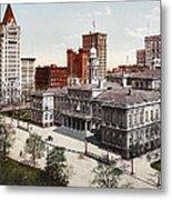New York City Hall 1900 Metal Print