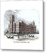 New York City Normal College - 1870 Metal Print