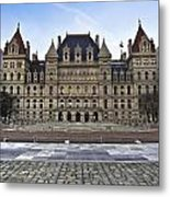 New York State Capitol Building Metal Print