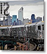 New York Train Metal Print