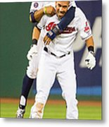 New York Yankees V Cleveland Indians 1 Metal Print