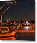 Night In The Harbor Metal Print