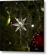 Night View Christmas Tree   1 Of 4 Metal Print