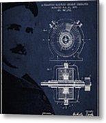 Nikola Tesla Patent From 1891 Metal Print