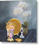 Nippon And Orchids Metal Print