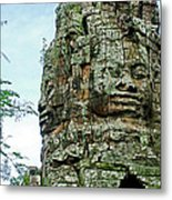 North Gate Of Angkor Thom In Angkor Wat Archeological Park-cambodia Metal Print