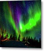 Northern Lights, Lapland, Sweden Metal Print
