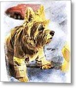 Norwich Terrier Fire Dog Metal Print