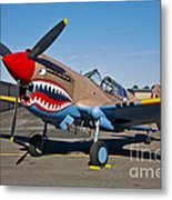 Nose Art On A Curtiss P-40e Warhawk Metal Print