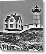 Nubble Lighthouse Cape Neddick Maine Metal Print by Glenn Gordon