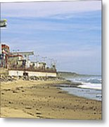Nuclear Power Plant On The Beach, San Metal Print
