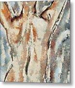 Nude Figure Metal Print