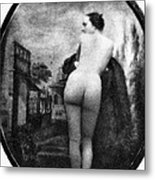 Nude Posing: Rear View Metal Print