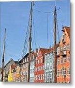 Nyhavn In Copenhagen Denmark - Famous Tourist Attraction Metal Print