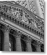 Nyse  New York Stock Exchange Wall Street Metal Print