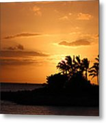 Oahu Sunset Metal Print