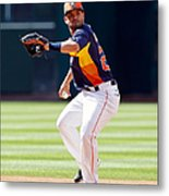 Oakland Athletics V Houston Astros Metal Print