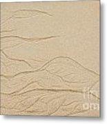 Ocean Sand Art Metal Print